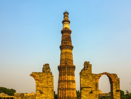 quitab: Qutub Minar Tower or Qutb Minar in Delhi, India