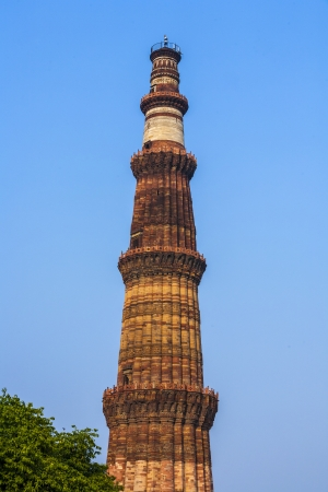 quitab: Qutub Minar Tower or Qutb Minar, the tallest brick minaret in the world , Delhi India