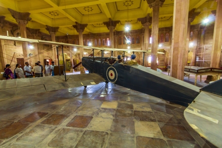bikaner: BIKANER, INDIA - OCT 24: old de Havilland DH9 in the palace on Oct 24, 2012 in Bikaner, India. Aparently the aircraft was part of the three DH-9s gifted to the Royal Family of Bikaner in the early 1930s by the British. Editorial