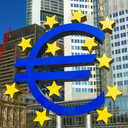 Euro sign in Frankfurt photo