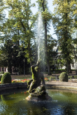 manufacturers: FRANKFURT, GERMANY - OCT 2:  famous neptune fountain inside the Bolongaro Park  on OCT 2,2011 in Frankfurt, Germany. The Bolongaro Palace was built between 1772 and 1774 by the Bolangaro brothers, two Italian snuff manufacturers.