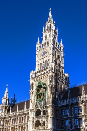 City hall of Munich at the Marienplatz photo