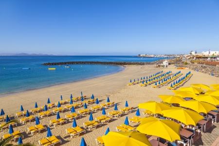 streifzug: Strand von Playa Blanca ohne Menschen in den fr�hen Morgenstunden