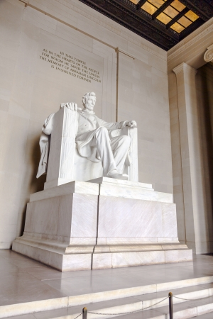 honest abe: Statue of Abraham Lincoln at the Lincoln Memorial, Washington DC Stock Photo
