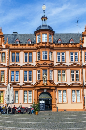 gutenberg: MAINZ, GERMANY - APRIL 14: house of Gutenberg on April 14, 2013 in Mainz, Germany. The Gutenberg Museum is one of the oldest museums of printing in the world.