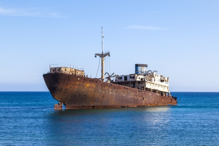 Shipwreck near Costa Teguise, Lanzarote, Canary Islands, Spain photo