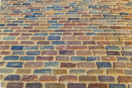 pattern of old cobble stone street photo