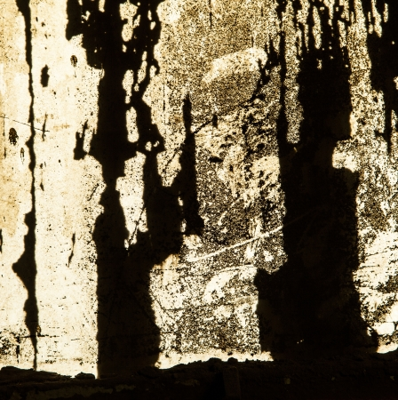 grungy window with carbon black symbolizes the dirt of iron works factories Stock Photo - 20557809