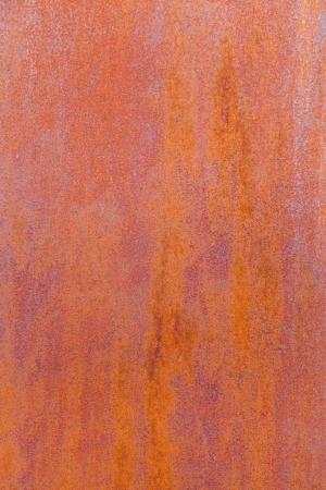 steel making: pattern of rusty metal of an old chimney