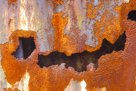 pattern of rusty metal of an old chimney Stock Photo - 20558126