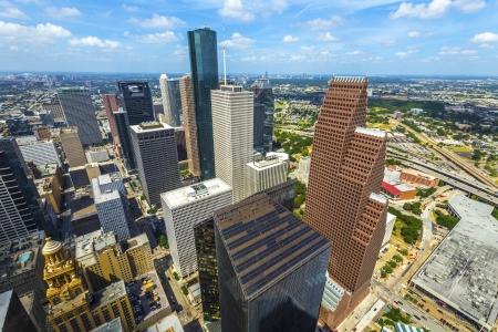 낮에 시내 휴스턴에서 현대적인 건물의 공중 스톡 콘텐츠