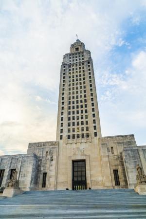 Baton Rouge, Louisiana - edificio del capitolio del estado Editorial