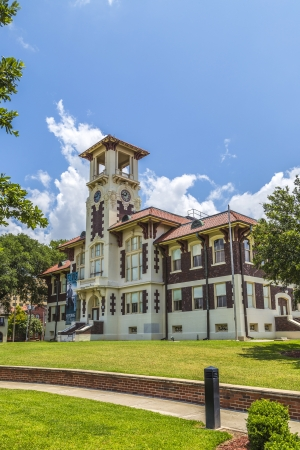 restauration: Lake Charles, USA - AUGUST 9: visit famous historic city hall on August 9, 2013 in Lake Charles, USA.  The 1911 Historic City Hall opened its doors  after restauration in 2004  as cultural facility.