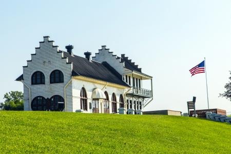 lift lock: famous historic Plaquemine Lockhouse