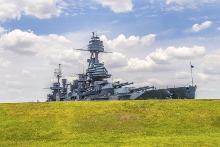 battleground: The Famous Dreadnought Battleship Texas Stock Photo