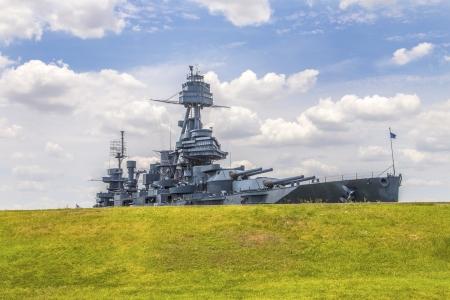 a battleship: The Famous Dreadnought Battleship Texas Stock Photo