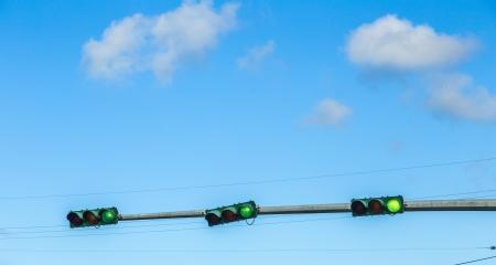 traffic regulation in america with traffic lights photo