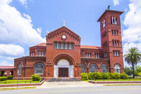 old town townhall: famous cathedral of the immaculate conception in Lake Charles