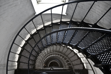 augustine: beautiful iros stairs in lighthouse from Sankt Augustine in Florida Stock Photo