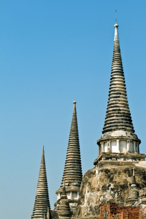 famous temple area Wat Phra Si Sanphet, Royal Palace in Ajutthaya photo