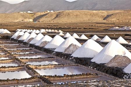 salina: Salt refinery, Saline from Janubio, Lanzarote, Spain