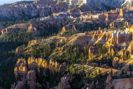 beautiful landscape in Bryce Canyon with magnificent Stone formation like Amphitheater, temples, figures in Morning light Zdjęcie Seryjne