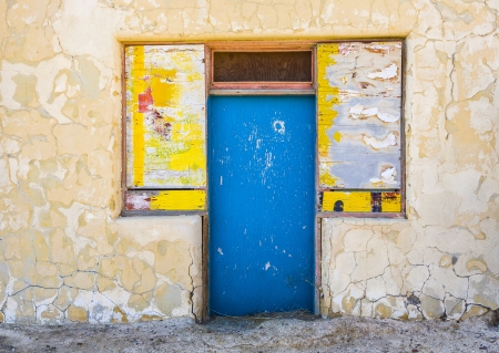 borax: old abandonned building in Death valley junction,  an old Borax Mining spot Stock Photo
