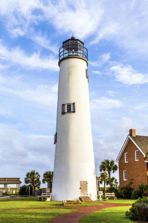 gulf of mexico: Lighthouse on the Gulf of Mexico in Eastpoint