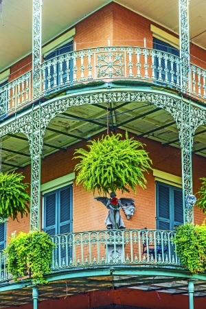 orleans: old New Orleans houses in french Quarter Editorial
