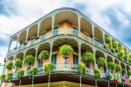alte Häuser in New Orleans Französisch Quarter