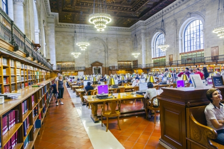 NEW YORK CITY - JULY 10  people study in the New York Public Library on July 10, 2010 in Manhattan, New York City  New York Public Library is the third largest public library in North America