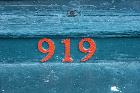 bourbon street: house number 919 at an old house in the Bourbon street, New Orleans