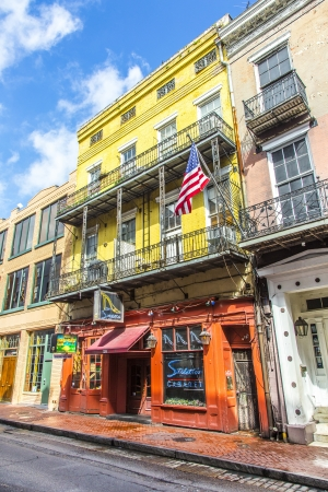 NEW ORLEANS, USA - JULY 17  historic building in the French Quarter on July 17, 2013 in New Orleans, USA  Tourism provides a large source of revenue after the 2005 devastation of Hurricane Katrina