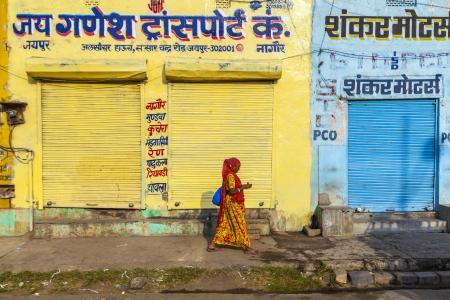 viernes santo: JAIPUR, INDIA - 12 de octubre cerr� tiendas el viernes a las 8 am el 19 de octubre de 2012 en Jaipur, India Para los hind�es, el viernes es el d�a santo de descanso Editorial