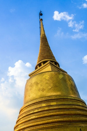 temple Wat Saket, the golden mountain in Bangkok photo