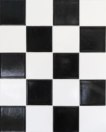 black and white wall tiles in harmonic pattern Stock Photo - 22354415