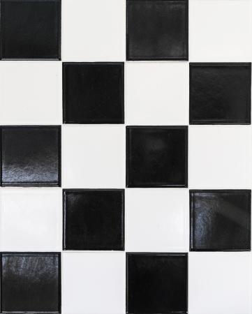 harmonic: black and white wall tiles in harmonic pattern Stock Photo
