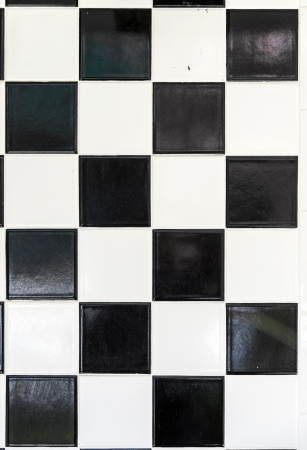 black and white wall tiles in harmonic pattern Stock Photo - 22354418