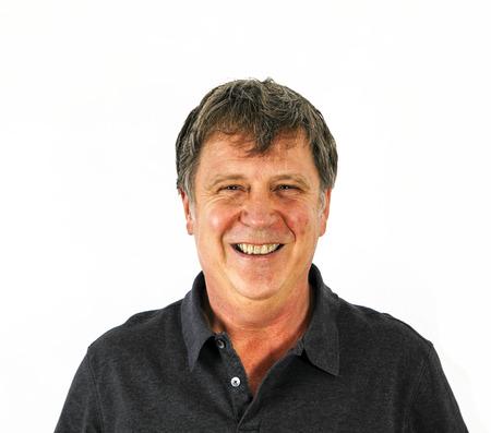 Portret van aantrekkelijke man met zwarte shirt in de studio Stockfoto - 23421228