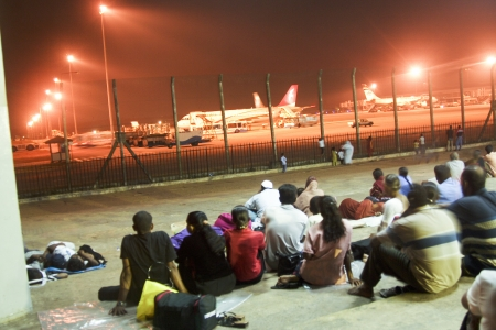 COLOMBI, SRI LANKA - AUGUST 21: people wait for the next flight on August 21, 2005 in Colombo, Sri Lanka. Bandaranaike International Airport (BIA) is the only international airport in Sri Lanka.