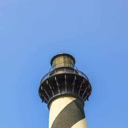 outerbanks: Cape Hatteras Lighthouse in Buxton on Hatteras Island on the Outer Banks of North Carolina Stock Photo