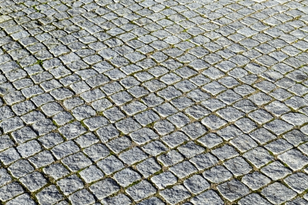 paveway: pattern of grey cobble stones at the paveway
