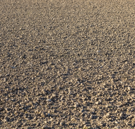 acre: freshly ploughed acre in beautiful light