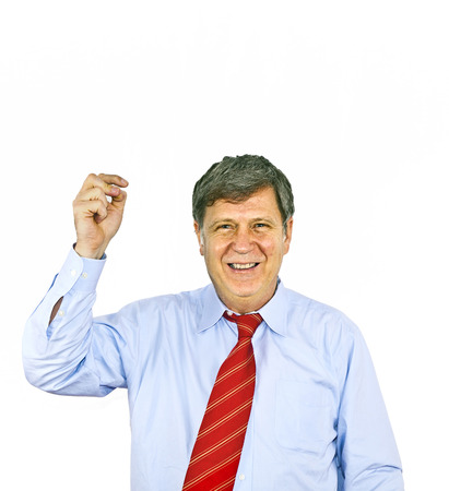 snipping: businessman gesturing with hand, isolated on white