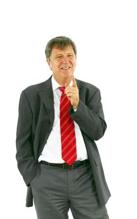 smart succesful business man with red tie photo