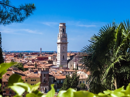 catholism: panorama of Verona with view of the old dome Stock Photo