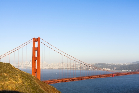 famous San Francisco Golden Gate bridge in late afternoon light Stock Photo - 25034117
