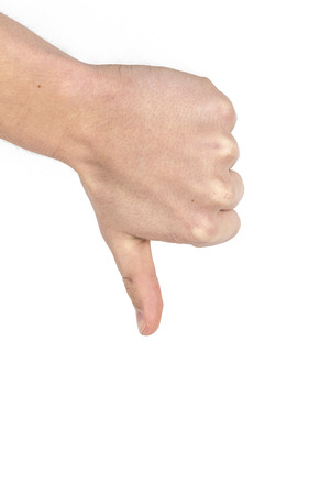 thumbs up sign isolated on white background photo