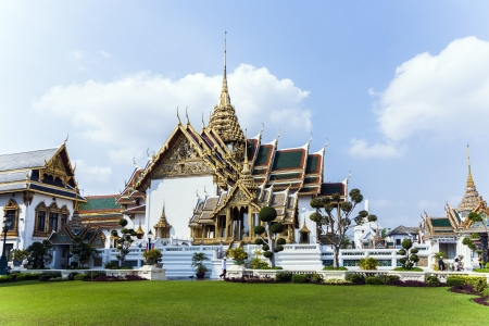 Phra Tinang Aporn Phimok Prasat Pavillion in the Grand Palace in Bangkok photo
