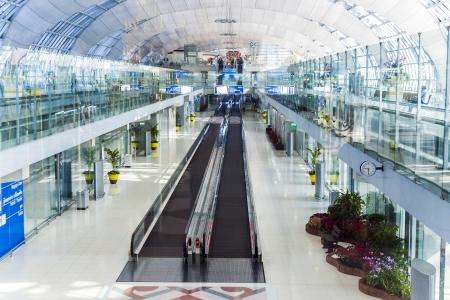 BANGKOK - JANUARY 5: departure terminal of Bangkok Suvarnabhumi International Airport on January 5,2010 in Bangkok, Thailand. The airport is handling about 45 million passengers annually.